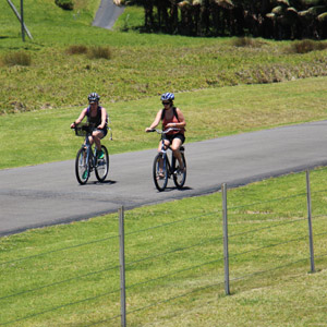 Bike riding around Lord Howe Island